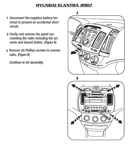 Hyundai Elantra 2007 car stereo dashboard removal hyundai car radio stereo audio wiring diagram autoradio connector