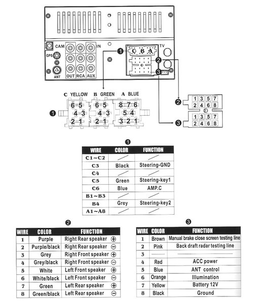 7 Speaker Stereo Pinout Or Wiring Diagram