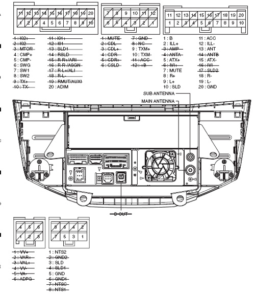 PIONEER Car Radio Stereo Audio Wiring Diagram Autoradio