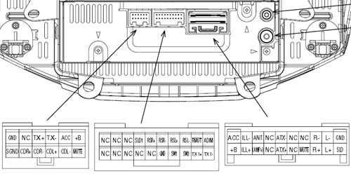TOYOTA Car Radio Stereo Audio Wiring Diagram Autoradio connector ...