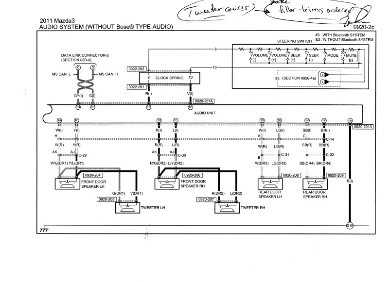 2008 Mazda 3 Radio Wiring Diagram : Mazda car radio stereo audio wiring diagram autoradio