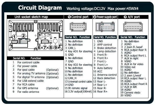 Diagram  Wire Car Stereo Wiring Diagram 12 Full Version