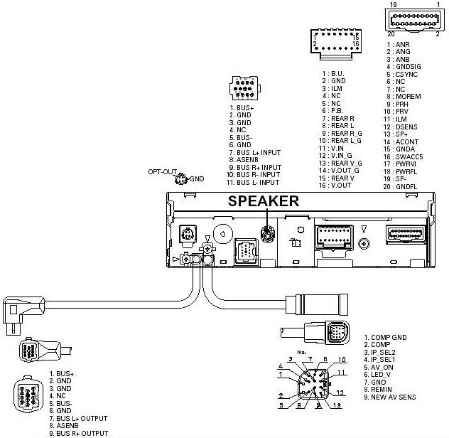 PIONEER AVX P7300 stereo wiring connector pioneer car radio stereo audio wiring diagram autoradio connector