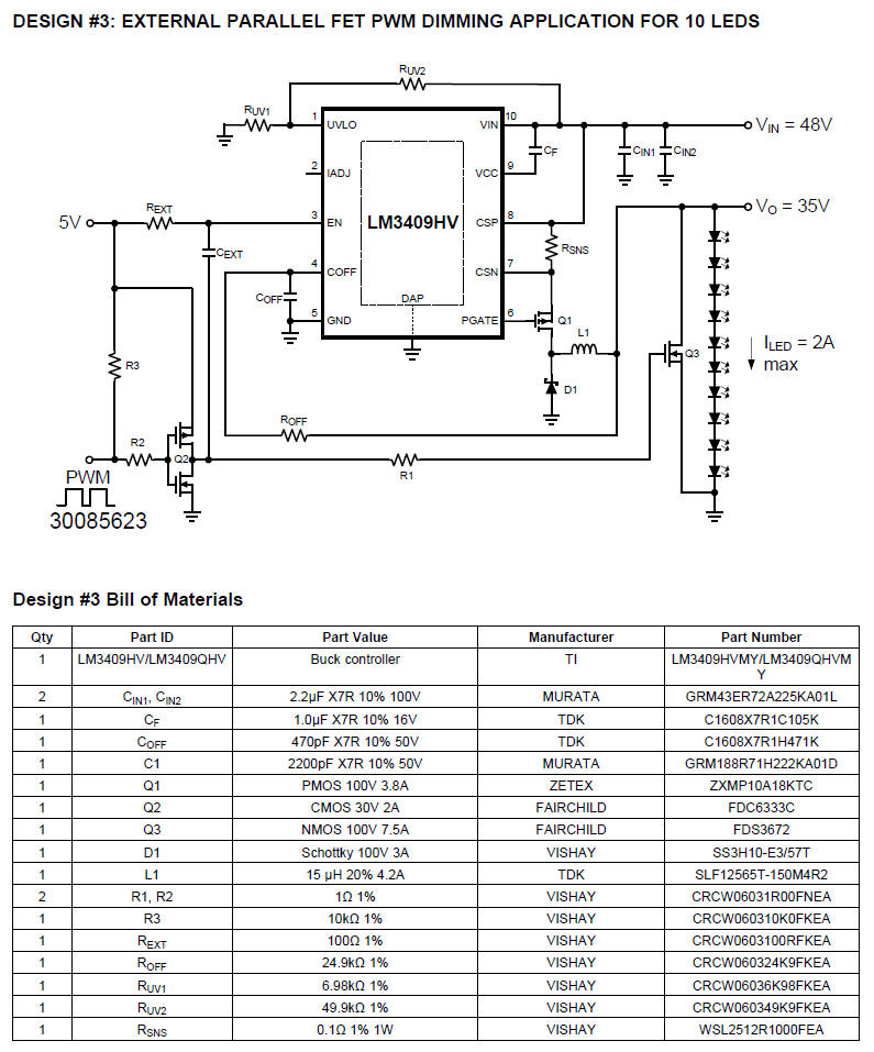 Dimming Led Circuit Diagram