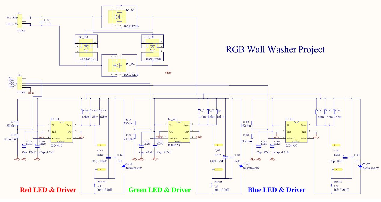 Rgb Led Light Wall Washer Circuit Diagram Wiring