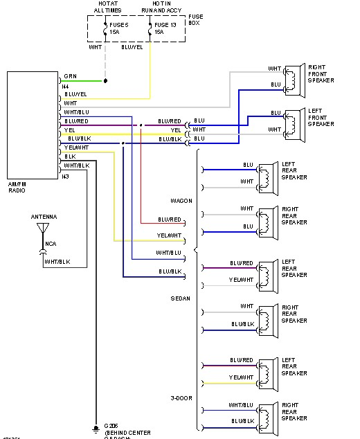 SUBARU Car Radio Stereo Audio Wiring Diagram Autoradio connector wire installation schematic schema esquema de conexiones stecker konektor connecteur cable ...